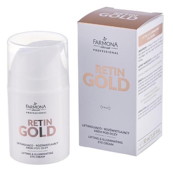 Crema pentru Ochi cu Efect de Lifting si Iluminare - Farmona Retin Gold Lifting & Illuminating Eye Cream, 50ml imagine produs