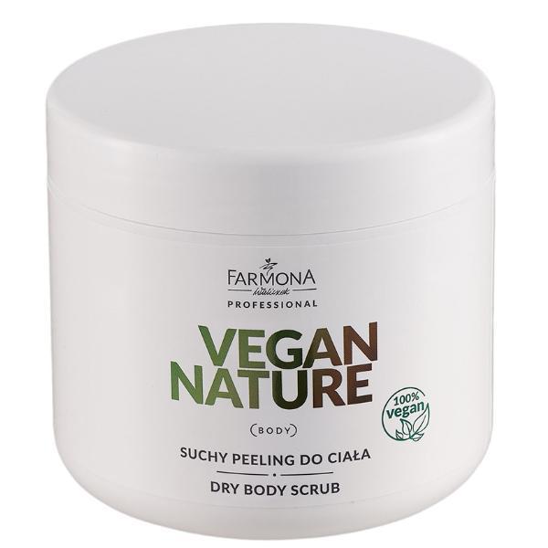 Exfoliant Uscat cu Zahar si Sare pentru Corp - Farmona Vegan Nature Dry Body Scrub, 600g poza