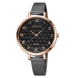Ceas de dama elegant Geneva, bratara metalica, CS828