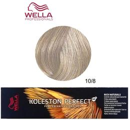 Vopsea Crema Permanenta - Wella Professionals Koleston Perfect ME+ Rich Naturals, nuanta 10/8 Blond Luminos Deschis Albastrui