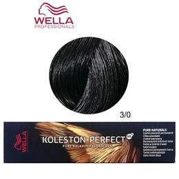 Vopsea Crema Permanenta – Wella Professionals Koleston Perfect ME+ Pure Naturals, nuanta 3/0 Castaniu Inchis de la esteto.ro