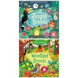 Set de carti cu sunete Woodland si Jungle Sounds, editura Usborne Publishing