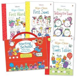 Set pentru scoala Scrie si Sterge Starting school wipe-clean activity pack 6+, editura Usborne Publishing
