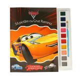 Disney. masini 3. sa pictam cu cruz ramirez. carte de colorat cu pensula si acuarele