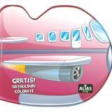 Avionul. Abtibilduri colorate, editura Alias