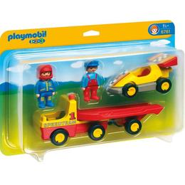 Playmobil 1.2.3 - Masina De Curse Cu Remorca