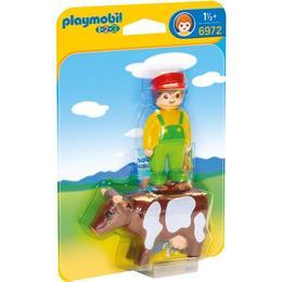 Playmobil 1.2.3 - Fermier Cu Vacuta
