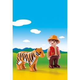 Playmobil 1.2.3 - Ingrijitor Cu Tigru