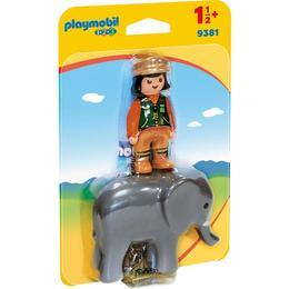 Playmobil 1.2.3 - Ingrijitor Zoo Cu Elefant