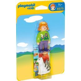 Playmobil 1.2.3 - Femeie Cu Pisicuta