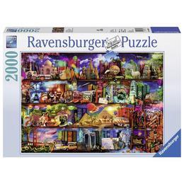 Puzzle lumea cartilor, 2000 piese - Ravensburger