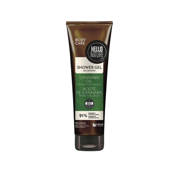 Gel de dus cu ulei Bio de Canabis pentru Flexibilitate & Relaxarea pielii Hello Nature 250 ml