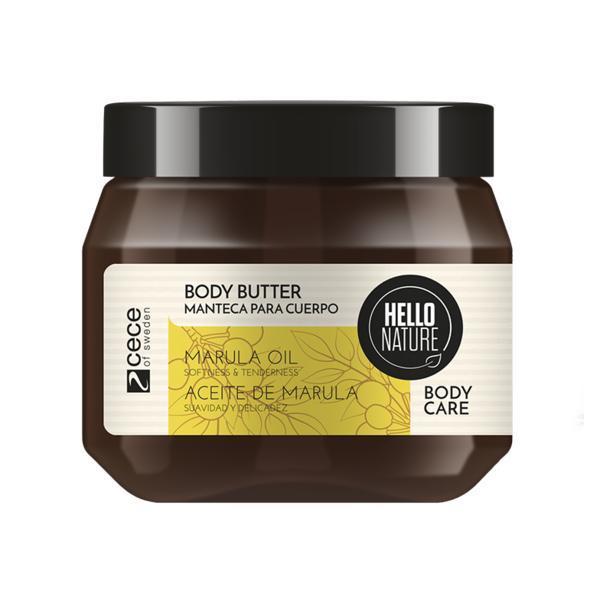 Unt de corp natural cu ulei Bio din fructul marula pentru netezire si luciu a pielii Hello Nature 250 ml