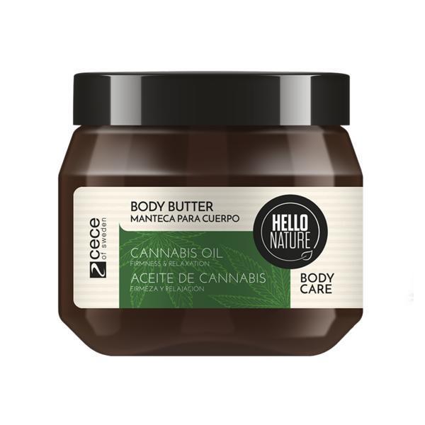 Unt pentru corp cu ulei Bio de Canabis pentru Flexibilitate & Relaxarea pielii Hello Nature 250 ml