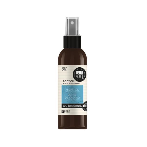 Ulei de masaj pentru corp Bio cu ulei bio de argan pentru netezirea si hidratarea pielii Hello Nature 250 ml