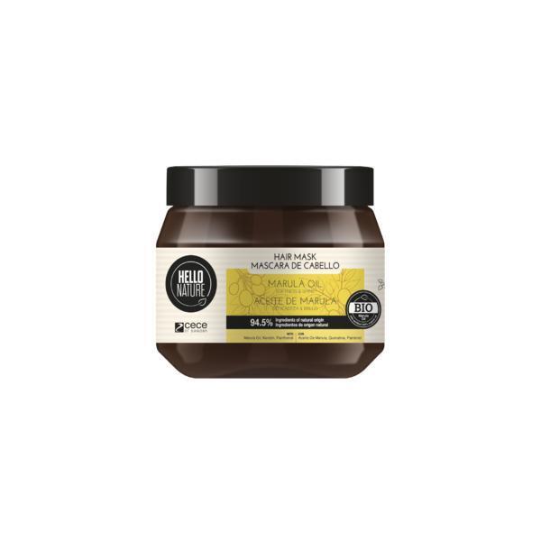 Masca naturala cu ulei Bio din fructul marula pentru netezire si luciu Hello Nature 250 ml