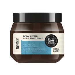 Unt pentru corp Bio cu ulei bio de argan pentru netezirea si hidratarea pielii Hello Nature 250 ml
