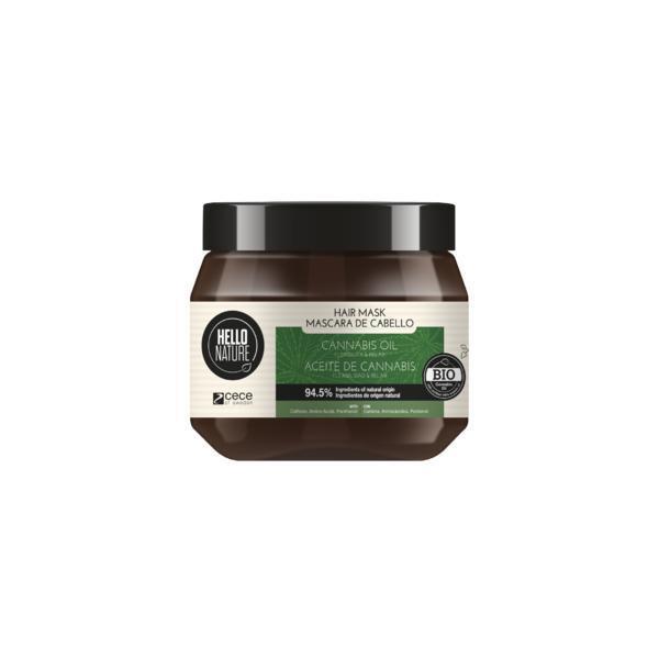 Masca pentru par cu ulei Bio de Canabis pentru Flexibilitate & Relaxare Hello Nature 250 ml