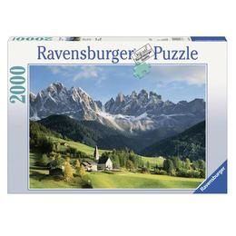 Puzzle muntii dolomiti, 2000 piese - Ravensburger