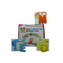 Joc educativ din lemn cu litere si carduri cu animale - Disney