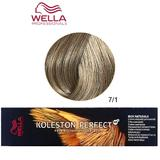 Vopsea Crema Permanenta - Wella Professionals Koleston Perfect ME+ Rich Naturals, nuanta 7/1 Blond Mediu Cenusiu