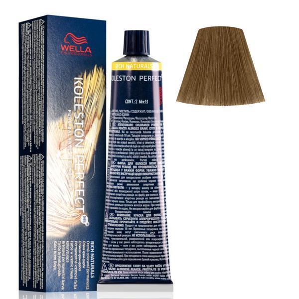Vopsea Crema Permanenta - Wella Professionals Koleston Perfect ME+ Rich Naturals, nuanta 7/1 Blond Mediu Cenusiu poza