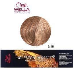 Vopsea Crema Permanenta – Wella Professionals Koleston Perfect ME+ Rich Naturals, nuanta 9/16 Blond Luminos Cenusiu Violet de la esteto.ro