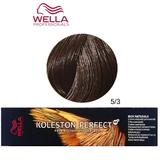 Vopsea Crema Permanenta - Wella Professionals Koleston Perfect ME+ Rich Naturals, nuanta 5/3 Castaniu Deschis Auriu