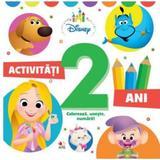 Disney. activitati 2 ani. coloreaza, uneste, numara