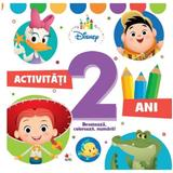 Disney. activitati 2 ani. deseneaza, coloreaza, numara