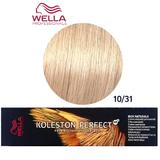 Vopsea Crema Permanenta - Wella Professionals Koleston Perfect ME+ Rich Naturals, nuanta 10/31 Blond Luminos Auriu Cenusiu