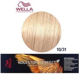 Vopsea Crema Permanenta – Wella Professionals Koleston Perfect ME+ Rich Naturals, nuanta 10/31 Blond Luminos Auriu Cenusiu de la esteto.ro