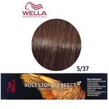 Vopsea Crema Permanenta - Wella Professionals Koleston Perfect ME+ Rich Naturals, nuanta 5/37 Castaniu Deschis Maro Auriu