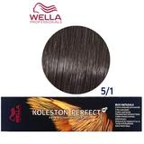 Vopsea Crema Permanenta - Wella Professionals Koleston Perfect ME+ Rich Naturals, nuanta 5/1 Castaniu Deschis Cenusiu