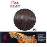 Vopsea Crema Permanenta - Wella Professionals Koleston Perfect ME+ Rich Naturals, nuanta 5/2 Castaniu Deschis Mat
