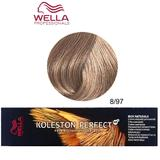 Vopsea Crema Permanenta - Wella Professionals Koleston Perfect ME+ Rich Naturals, nuanta 8/97 Blond Deschis Albastru Maro