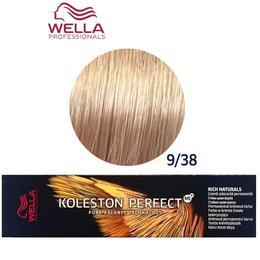Vopsea Crema Permanenta – Wella Professionals Koleston Perfect ME+ Rich Naturals, nuanta 9/38 Blond Foarte Deschis Auriu Albastrui de la esteto.ro