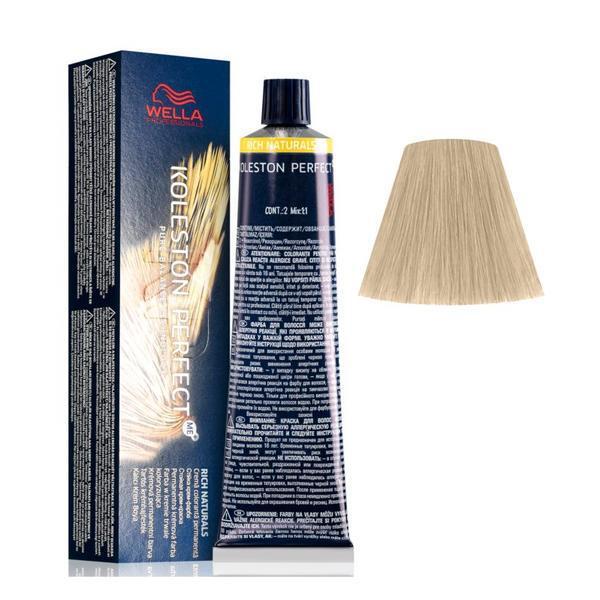 Vopsea Crema Permanenta - Wella Professionals Koleston Perfect ME+ Rich Naturals, nuanta 10/38 Blond Luminos Auriu Albastrui poza