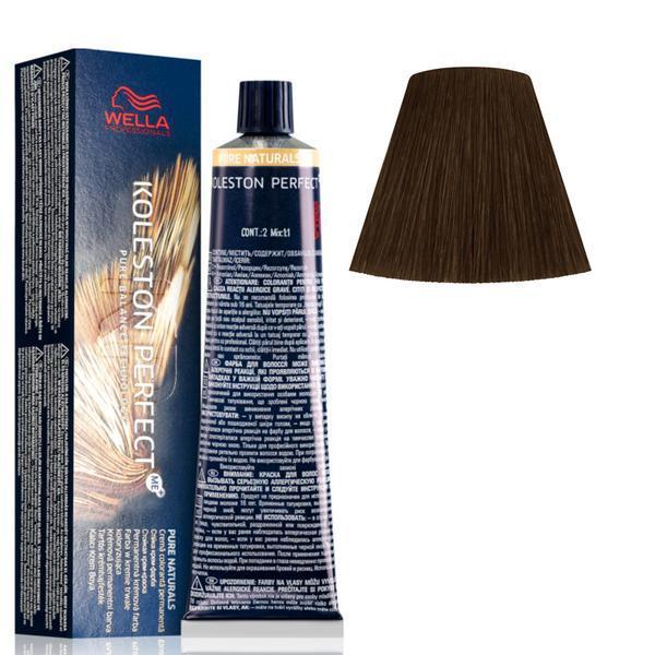 Vopsea Crema Permanenta - Wella Professionals Koleston Perfect ME+ Pure Naturals, nuanta 55/0 Castaniu Deschis Intens poza