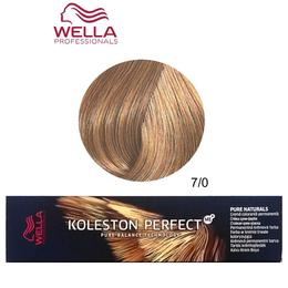Vopsea Crema Permanenta – Wella Professionals Koleston Perfect ME+ Pure Naturals, nuanta 7/0 Blond Mediu de la esteto.ro