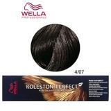 Vopsea Crema Permanenta - Wella Professionals Koleston Perfect ME+ Pure Naturals, nuanta 4/07 Castaniu Mediu Castaniu Natural