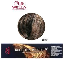 Vopsea Crema Permanenta – Wella Professionals Koleston Perfect ME+ Pure Naturals, nuanta 6/07 Blond Inchis Castaniu Natural de la esteto.ro