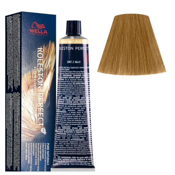 Vopsea Crema Permanenta - Wella Professionals Koleston Perfect ME+ Pure Naturals, nuanta 8/03 Blond Deschis Auriu Natural poza