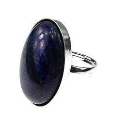 Inel argint reglabil masiv lapis lazuli 25x18 MM, GlamBazaar, Reglabila, cu Lapis Lazuli, Albastru, tip inel reglabil de argint 925 cu pietre naturale