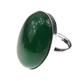 Inel argint reglabil masiv cu agata verde 25x18 MM, GlamBazaar, Reglabila, cu Agate, Verde, tip inel reglabil de argint 925 cu pietre naturale