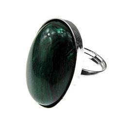 Inel argint reglabil masiv cu malachit 25x18 MM, GlamBazaar, Reglabila, cu Malachit, Verde, tip inel reglabil de argint 925 cu pietre naturale