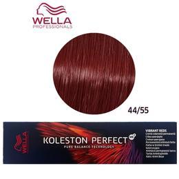 Vopsea Crema Permanenta – Wella Professionals Koleston Perfect ME+ Vibrant Reds, nuanta 44/55 Castaniu Mediu Intens Mahon Intens de la esteto.ro