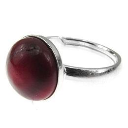 Inel argint reglabil cu coral natural, GlamBazaar, Reglabila, cu Coral, Rosu, tip inel reglabil de argint 925 cu pietre naturale