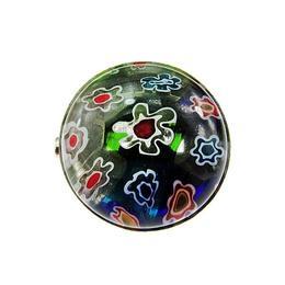 Brosa mica Millefiori 1,8 CM, GlamBazaar, 18 mm, cu Sticla de Murano, Multicolor, tip