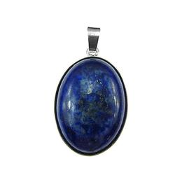 Pandantiv argint mare cu lapis lazuli natural 25x18 MM, GlamBazaar, 3.5 x 2 cm, cu Lapis Lazuli, Albastru, tip pandantiv de argint 925 cu pietre naturale